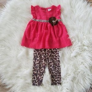 Youngland Baby Leopard Print 2 Piece Outfit